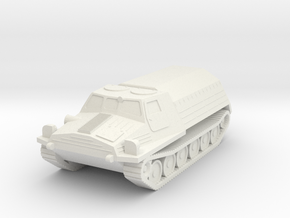 1/100 (15mm) GT-T tractor in White Natural Versatile Plastic