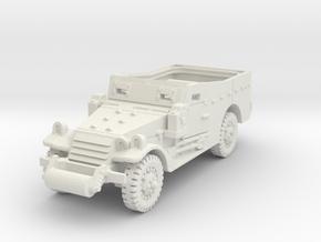 M3A1 Scoutcar late (open) 1/87 in White Natural Versatile Plastic
