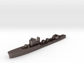 Italian Calliope torpedo boat 1:1800 WW2 in Polished Bronzed-Silver Steel