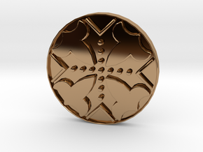 Assassins Creed - Connor Kenway Button 20cm - V1 in Polished Brass