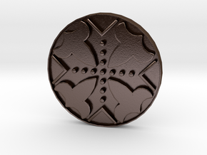 Assassins Creed - Connor Kenway Button 20cm - V1 in Polished Bronze Steel