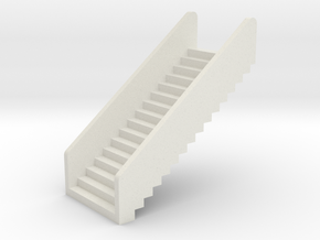 N Scale Stairs H20 in White Natural Versatile Plastic