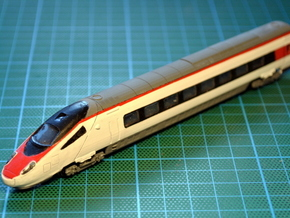 ETR610  Carriage 1 Bodyshell Z, N and TT in Smooth Fine Detail Plastic: 1:160 - N