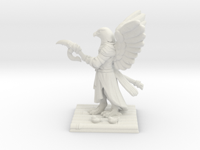 Aarakocra Monk Miniature in White Natural Versatile Plastic