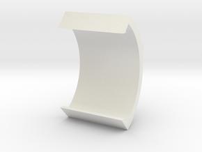 31.5 DEG RA GUMMER 2.5 INCH WIDE v2 fillet REVERSE in White Natural Versatile Plastic