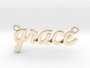 Name Pendant - Grace in 14K Yellow Gold