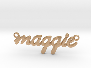 Name Pendant - Maggie in Natural Bronze