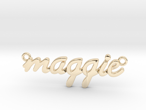 Name Pendant - Maggie in 14K Yellow Gold