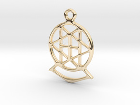 Key ring - star - small in 14K Yellow Gold