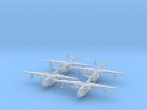 4pk Martin PBM5 Mariner seaplane bomber 1:700 WW2 in Smoothest Fine Detail Plastic