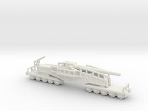 28cm Kanone Eisenbahnlafette Schwere Bruno 1/200 in White Natural Versatile Plastic