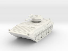 BMP 1 with rocket 1/87 in White Natural Versatile Plastic