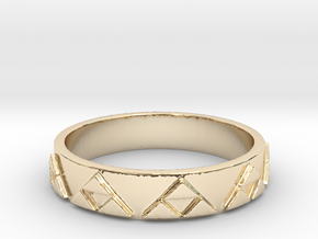 Slim Triforce Ring (Choose your size!) in 14k Gold Plated Brass