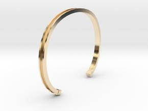 U-Shape Bracelets in 14k Gold Plated Brass