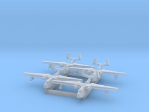 4pk PBM5 Martin Mariner seaplane bomber 1:1800 WW2 in Smoothest Fine Detail Plastic