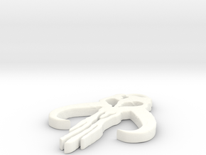 Mythosaur Skull Pendant in White Processed Versatile Plastic
