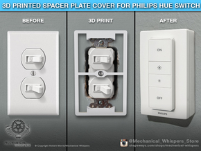 Philips Hue Dimmer Duplex Plate (Horiz US Toggle) in White Natural Versatile Plastic