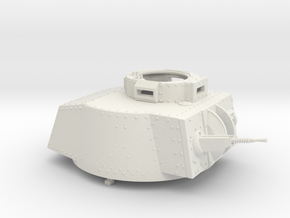 German Panzer 38t 1:18 Scale - Turret in White Natural Versatile Plastic