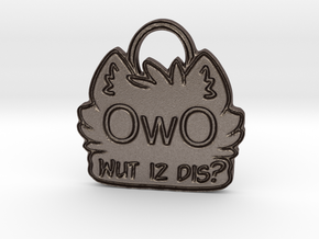 OwO Wut Is Dis? in Polished Bronzed-Silver Steel