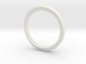 3D Möbius Strip in White Natural Versatile Plastic