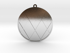 Vortex Math Pendant in Polished Silver