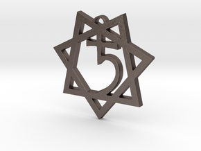Ecclesia Babalon Pectoral Pendant in Polished Bronzed-Silver Steel