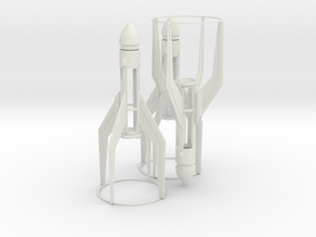 rocket MKII tripple Pack fixed final Design UNTE in White Natural Versatile Plastic
