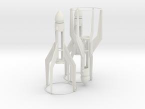 rocket MKII tripple Pack fixed final Design UNTE in White Natural Versatile Plastic