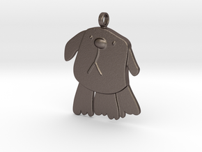 Doggy Keyfob in Polished Bronzed-Silver Steel