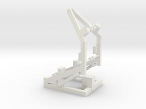 1/96 Scale RIB Davit in White Natural Versatile Plastic