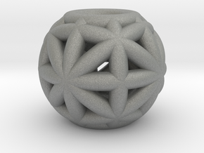torus_pearl_type8_thick in Gray PA12: Small
