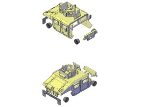 M1151 Humvee Armor w/ Objective GPK in Smooth Fine Detail Plastic