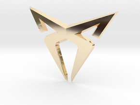 """Pre-Facelift Cupra Front """"S"""" Badge - Front Part in 14K Yellow Gold"""