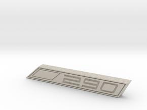 Cupra 290 Text Badge in Natural Sandstone