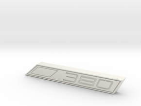 Cupra 380 Text Badge in White Natural Versatile Plastic