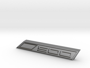 Cupra 500 Text Badge in Natural Silver