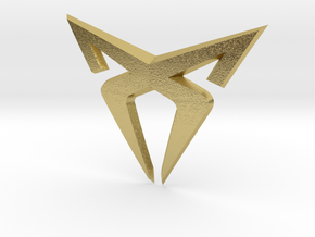 """Facelift Cupra Front """"S"""" Badge - Front Part in Natural Brass"""