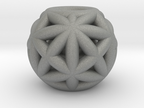 torus_pearl_type6_thick in Gray PA12: Small