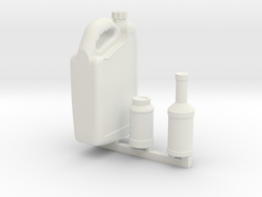 Fluid bottles Coolant Brake Power Steering 1Tenth in White Natural Versatile Plastic