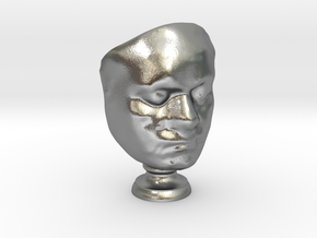 Beethoven's Life Mask [6cm] Hollow in Natural Silver