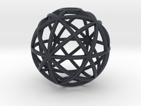 torus_pearl_type4_ultrathin in Black PA12