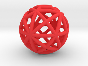 torus_pearl_type4_thin in Red Processed Versatile Plastic: Medium