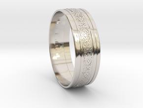 Wedding Gold Ring KTWR01 in Platinum
