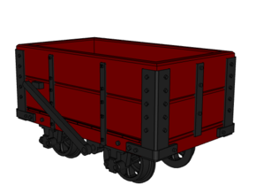 009 NWNGR 2 Plank Open Wagon 4mm in Smooth Fine Detail Plastic
