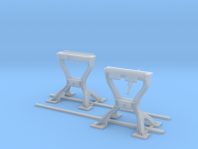 Harp Switch Stand - Flat top w/ 4 legs - Two Pack in Smoothest Fine Detail Plastic