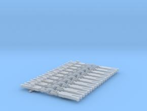 NEM OO Type 1 Couplings - Strait 3 Link x10 in Smooth Fine Detail Plastic