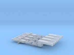NEM OO Type 4 Couplings - Adaptor 3 Link x4 in Smooth Fine Detail Plastic