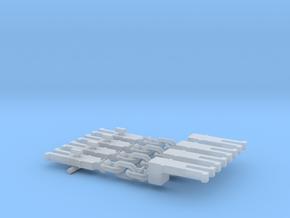 NEM OO Type 6 Couplings - Adaptor 3 Link x4 in Smooth Fine Detail Plastic