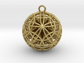 Power Ball Pendant - Precious Metals in Natural Brass