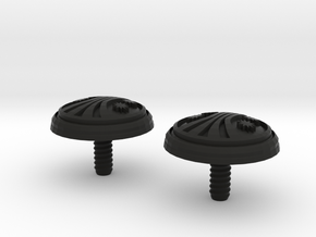 UACM Chinstrap Buttons 1 Set in Black Premium Versatile Plastic